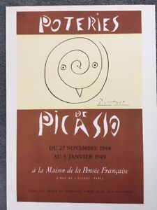 Poster,1957 Offset Lithograph PABLO PICASSO,1951 Exposition Vintage