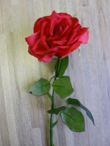 Rose Bauernrose Seidenblume Kunstblume Kunstpflanze rot 46 cm 180320 F7