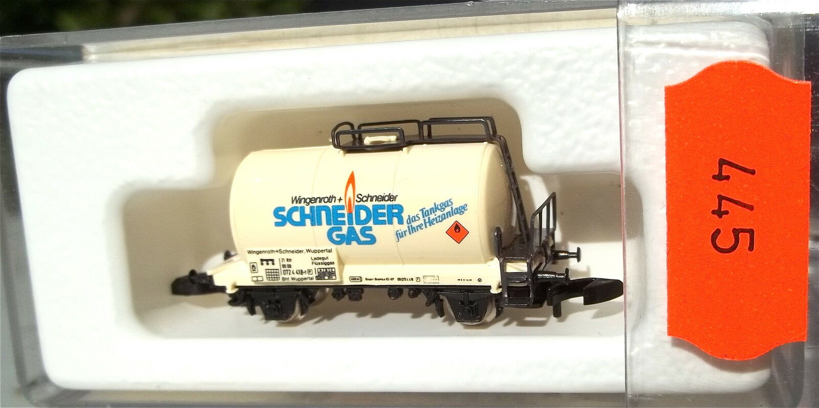 Coupe Gas, les Wagons-Citernes Col  89707 Märklin 8612 Z 1 220 445 Å
