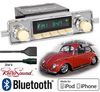 RetroSound 58-67 VW Bug Long Beach-IV Radio/BlueTooth/iPod/USB/Mp3/3.5mm AUX-In