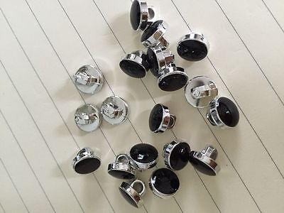 Regal dress shirt //decorative buttons black /& silver shank on back per 5 buttons
