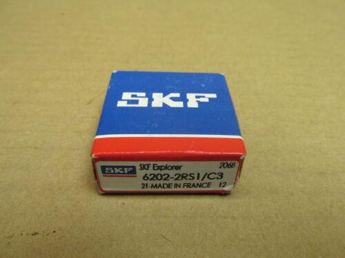 NIB SKF 62022RS1C3 BEARING RUBBER SEALED 6202 2RS1 C3 6202 2RS C3 15x35x11 mm