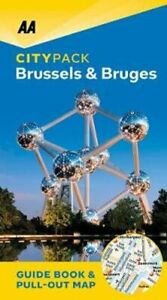 Brussels-amp-Bruges-AA-CityPack-9780749581749-Brand-New-Free-UK-Shipping