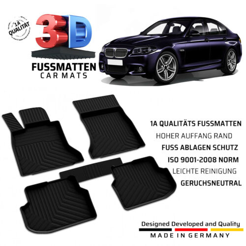 f10//f11 BMW 5 gummifussmatten BJ 2010-2013 SET COMPLETO TAPPETINI Allwetter