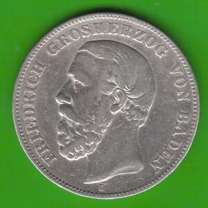 Baden-5-Mark-1876-A-in-BADEN-ohne-Querstrich-nswleipzig