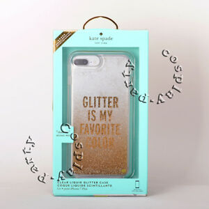 promo code 8fb72 02d58 Details about Kate Spade Liquid iPhone 7 Plus iPhone 8 Case Plus Glitter Is  My Favorite Color