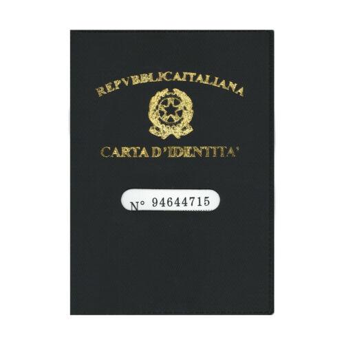 ★PORTA CARTA D'IDENTITA CUSTODIA DOCUMENTI IN PLASTICA CON DISPLAY NERO★