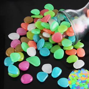 Gehweg und Garten 3D Leuchtsteine Leuchtkiesel für Aquarium Nachtleuchtend