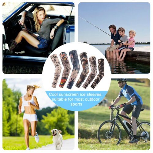 1PAIR Tattoo Cooling UV Sun Protection Arm Sleeves Sports Outdoor Cycling Cover