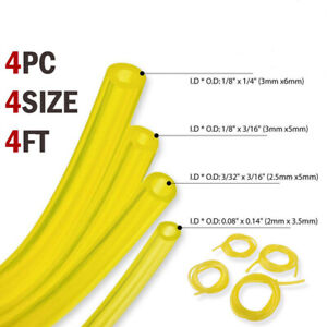 Trimmer-Chainsaw-Blower-Tools-4PCS-Fuel-Line-Hose-Gas-Pipe-Tubing-Outdoor-Kits