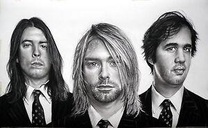 Nirvana - ritratto portrait grafite e carboncino cm. 90 x 55 - Italia - Nirvana - ritratto portrait grafite e carboncino cm. 90 x 55 - Italia