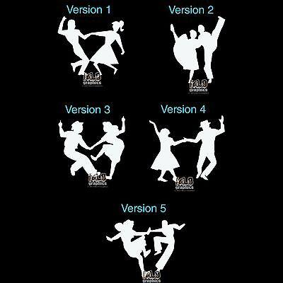 ROCKABILLY DANCERS Vinyl Sticker Decal Design 50s Boogie Woogie Western Swing