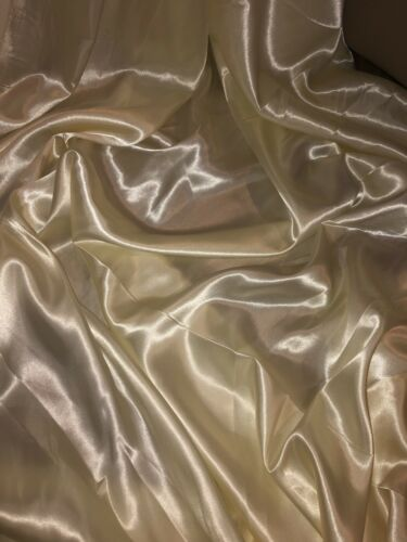 "147cm 2 mtr cream lining satin fabric..58"" wide"
