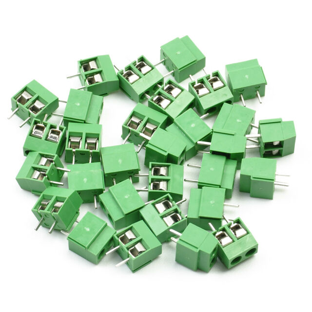 Simple 30 Pcs 2 Pole 5mm Pitch PCB Mount Screw Terminal Block 8A 250V Tool
