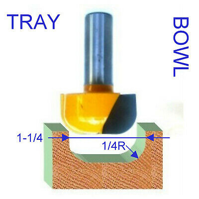 "1 pc 1//2/"" SH 3//4/"" Dia Dish Bowl /& Tray Router Bit  sct-888"