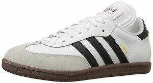 6a3bc9dcf15 adidas SAMBA CLASSIC Mens Runwht Black 772109 Lace Up Indoor Soccer ...