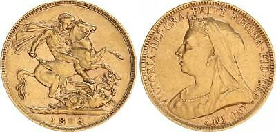 Australien, 1 Souvereign 1893, Victoria Ss-vz