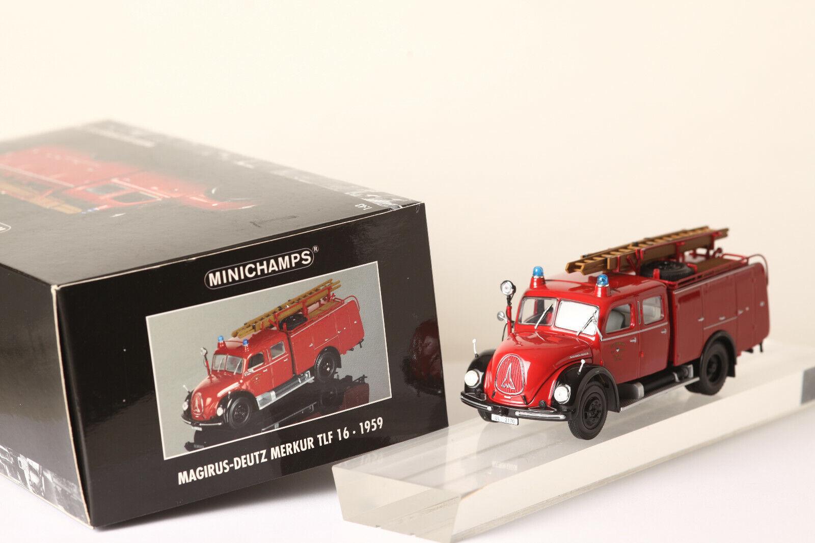 Minichamps Magirus - Deutz Merkur Merkur Merkur TLF 16.1959 Feuerwerhwagen Löschzug (53390) a12212