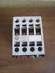 GE CL02A310T1 3 pole 32 AMP contactor with a 24 volt AC coil and 1 NO contact