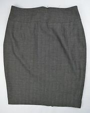 Womens Mossimo Charcoal Gray Career Dress Pencil Skirt Size 12 AC39 J-T-P