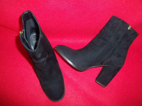 40 parfait cuir noir Bottines état véritable dames pour velours gr qx188ntFUB