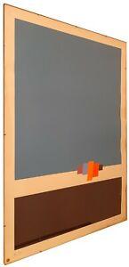 Quadro di Eugenio Carmi, figure geometriche, serigrafia, 50 × 70 cm
