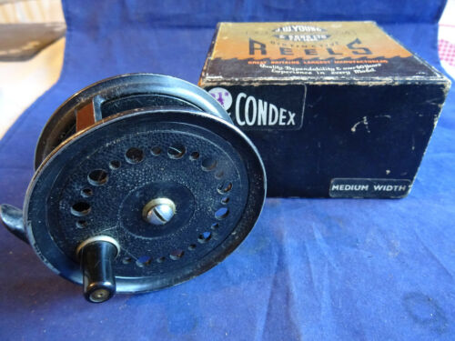 "A GOOD BOXED VINTAGE J W YOUNGS CONDEX MEDIUM WIDTH 3 12"" TROUT FLY REEL"