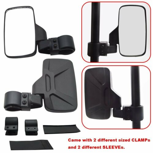 """1.75"""" Side/&Rear Wide View Mirrors+Hand Grab for Polaris Ranger RZR XP900 1000"""