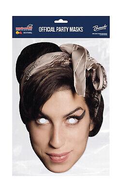 Amy Winehouse Face Party Mask Card A4 Fancy Dress Music Singer Ladies Men Kids
