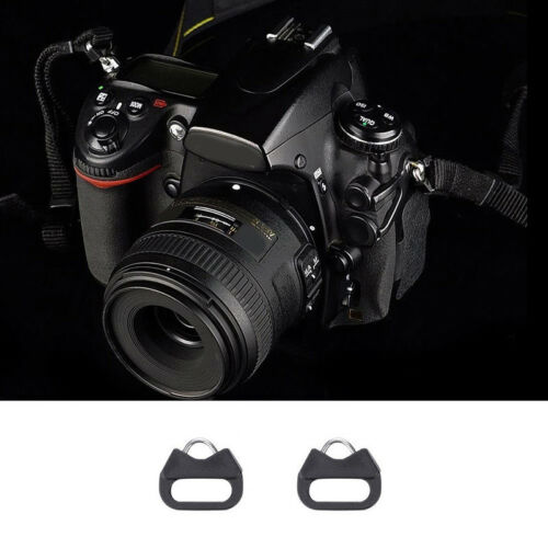 Replacement Chrome Finish Split Ring Camera Strap Triangle Rings Hook With Clips
