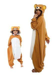 d7ce530fcb95 Image is loading SAZAC-Rilakkuma-Kigurumi-Kids-amp-Adults-Costumes-from-