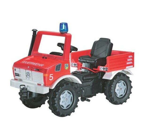 Rolly Toys Unimog Feuerwehr Tretfahrzeug  Zweigangschaltung Bremse 036639 NEU