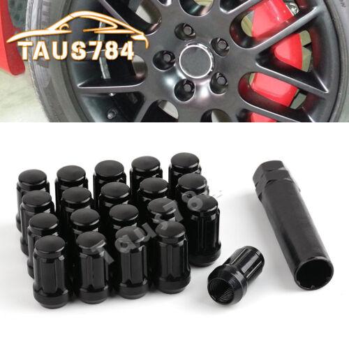 20 Black 1//2x20 Spline Lug Nuts for Jeep Grand Cherokee 1999 2000 2002 2004 2005