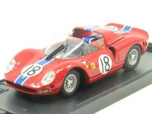 Caja-Modelo-Diecast-8449-Ferrari-P-2-Le-Mans-1965-Rojo-1-43-ESCALA-en-Caja
