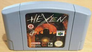 HEXEN para Nintendo 64 N64 PAL CARTUCHO sólo probado