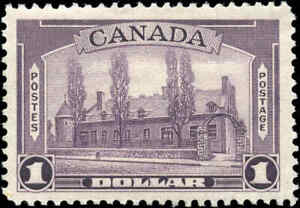 1938-Mint-Canada-F-VF-Scott-245-1-00-Pictorial-Issue-Stamp-Hinged