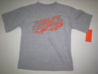 Harley Davidson T-shirt, Boy, Size 4, Gray, Brand