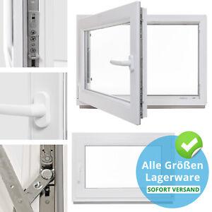 Kellerfenster-Kunststoff-Fenster-2-amp-3-Fach-Verglast-Dreh-Kipp-alle-Groessen-Lager