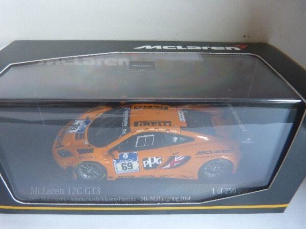1 43 Minichamps McLaren 12c gt3 Dörr Motorsport 24h Nurburgring 2014  69