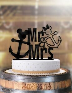 Outstanding Disney Nautical Mickey And Minnie Anchor Cake Topper Ebay Funny Birthday Cards Online Alyptdamsfinfo