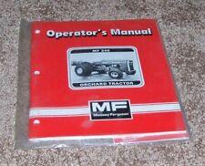 Massey Ferguson Mf 245 New Operators Manual Orchard Tractor New Sealed Farm