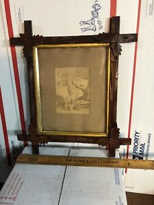 Vintage-Antique-Victorian-Walnut-Picture-Frame-Fits-8-by-10-Painting