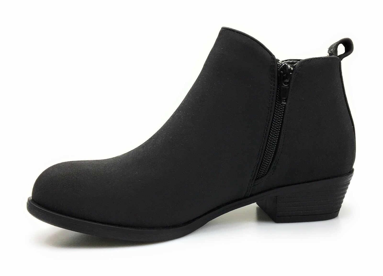 Womens Ankle Booties Vegan Faux Suede Dual Zipper Pierre Dumas Zoey-1