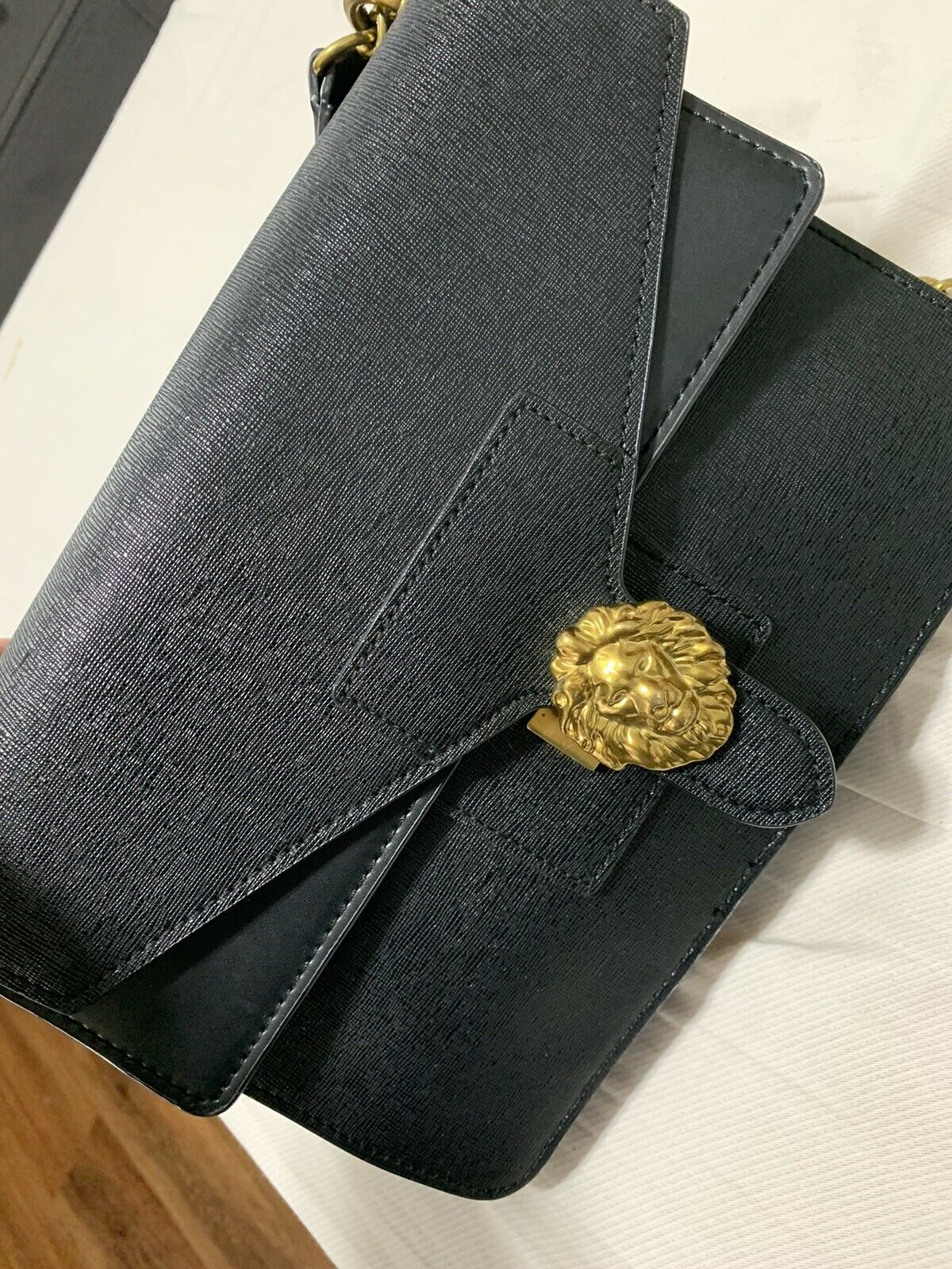 ann klein diana double flap chain handbag - image 1