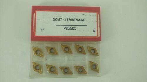 LOT OF 10 CERATIZIT DCMT32.52 EN-SMF DCMT 11T308EN-SMF P25//M20  CARBIDE INSERT