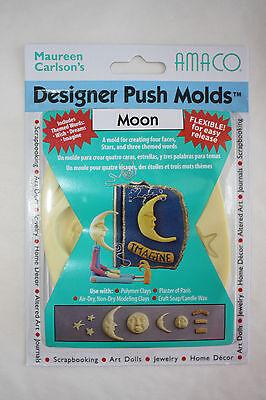Moon Push Molds Clay Sculpey Fimo Amaco