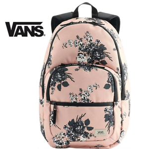 Vans Off the Wall Motiveatee 3-B Backpack School Travel Rose Floral Pink Black