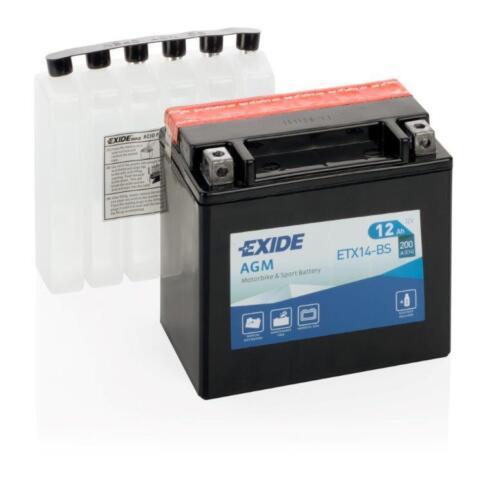 Batterie YTX14-BS EXIDE pour moto YAMAHA 900 XJ900S Diversion 95-02
