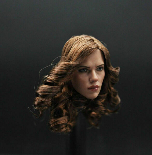 "1:6 Custom Black Widow Head Sculpt American Actor Scarlett Johansson F 12/"" Toys"