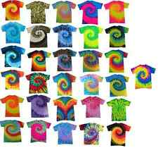 Multi-Color Tie Dye T-Shirts, Adult S M L XL 2XL 3XL 4XL 5XL, 100% Cotton Gildan